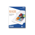 "Epson Iron-on Cool Peel Transfer - 8.5"" x 11"" - 10 Sheet printing paper"