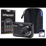 Kodak PIXPRO FZ43 Black Camera Kit inc 4x AA Batteries, 8GB SD, Case & Charger