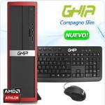 GHIA COMPAGNO SLIM / AMD ATHLON 5150 QUAD CORE 1.6 GHz / 4 GB / 500 GB / DVDRW / SFF-R / ENDLESS OS