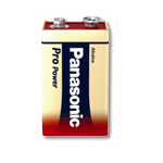 Panasonic 6LR61PPG Alkaline 9V non-rechargeable battery