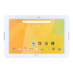 """Acer Iconia B3-A20B-K7GU 16 GB 25.6 cm (10.1"""") Mediatek 1 GB Wi-Fi 4 (802.11n) Android White"""