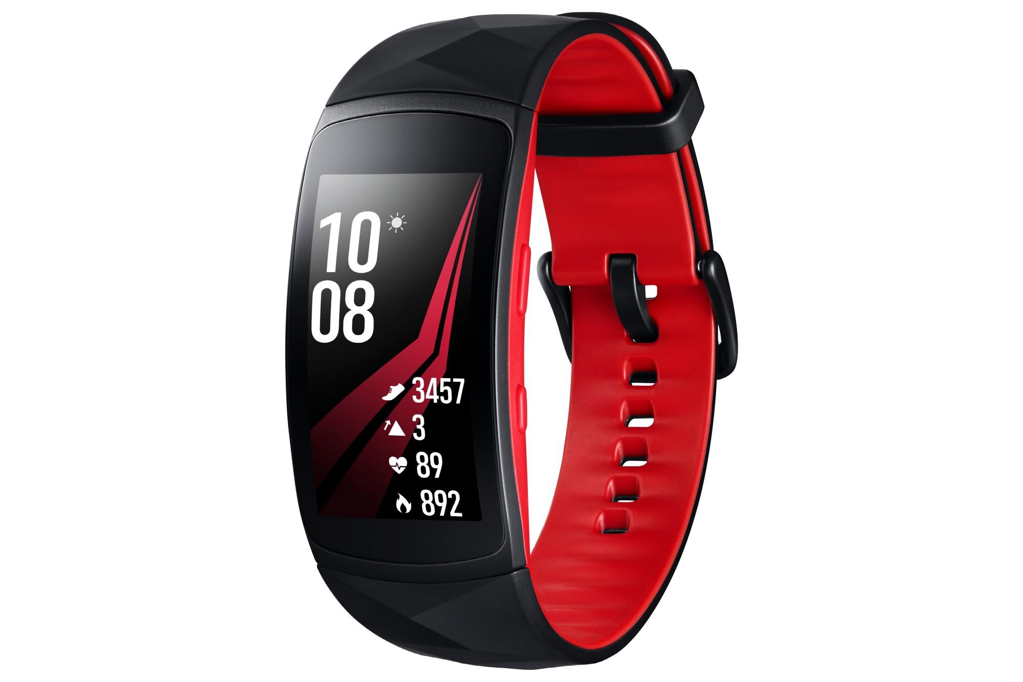 "Samsung Gear Fit2 Pro 1.5"" SAMOLED GPS (satellite) Black, Red smartwatch"