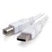 C2G Cable USB 2.0 A/B de 2 m, color blanco