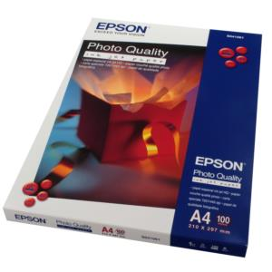 Epson Photo Quality Ink Jet Paper, DIN A4, 102g/m², 100 Sheets C13S041061
