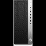 HP EliteDesk 800 G4 i7-8700 Tower 8th gen Intel® Core™ i7 8 GB DDR4-SDRAM 256 GB SSD Windows 10 Pro PC Black, Silver