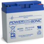 Power-Sonic PS-12170VDS Sealed Lead Acid (VRLA) 17 Ah 12 V