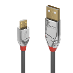Lindy 36653 USB cable 3 m USB A Micro-USB B Male Grey