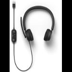 Microsoft 8JN-00002 headphones/headset Head-band USB Type-A Black