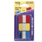 Post-It Tabs, 1 inch Solid, Red, Yellow, Blue, 22 Tabs/Color, 66/Dispenser Blue,Red,Yellow self adhesive tab