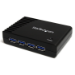 STARTECH 4 PORT BLACK SUPERSPEED USB 3.0