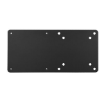 Brateck Vesa Compatible NUC mounting bracket, up to 3kg, Black colour, Steel Material,