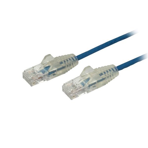 StarTech.com Cable Cat6 de 50cm - Delgado - con Conectores RJ45 sin Enganches - Azul