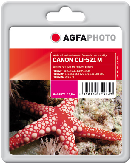 Compatible Inkjet Cartridge - Magenta - (apccli521md)