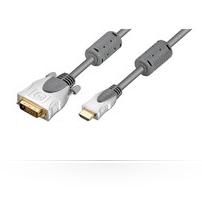 Microconnect 10m, HDMI - DVI-D 10m HDMI DVI-D GreyZZZZZ], HDM1918210FCH
