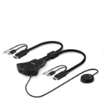 Belkin F1DN102N KVM cable Black