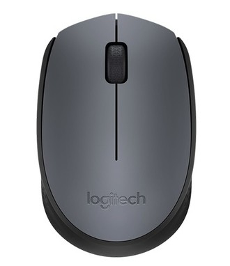 Logitech M170 RF Wireless+USB Optical 1000DPI Ambidextrous Black,Grey mice