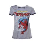 Marvel Spider-Man Woman's Crawling T-Shirt, Extra Large, Grey (TS260815MAR-XL)