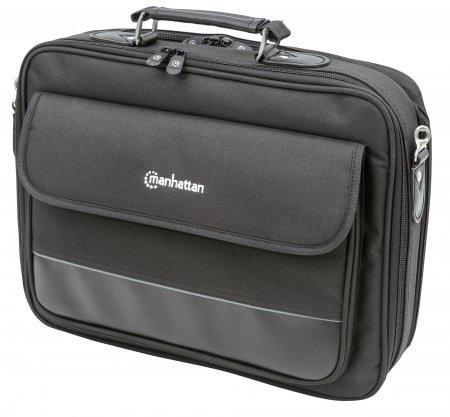 """Manhattan 421577 notebook case 39.6 cm (15.6"""") Briefcase Black"""