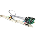 StarTech.com 7.1 channel sound card - PCI Express, 24-bit, 192KHz PEXSOUND7CH