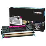 Lexmark X748H1MG Toner magenta, 10K pages