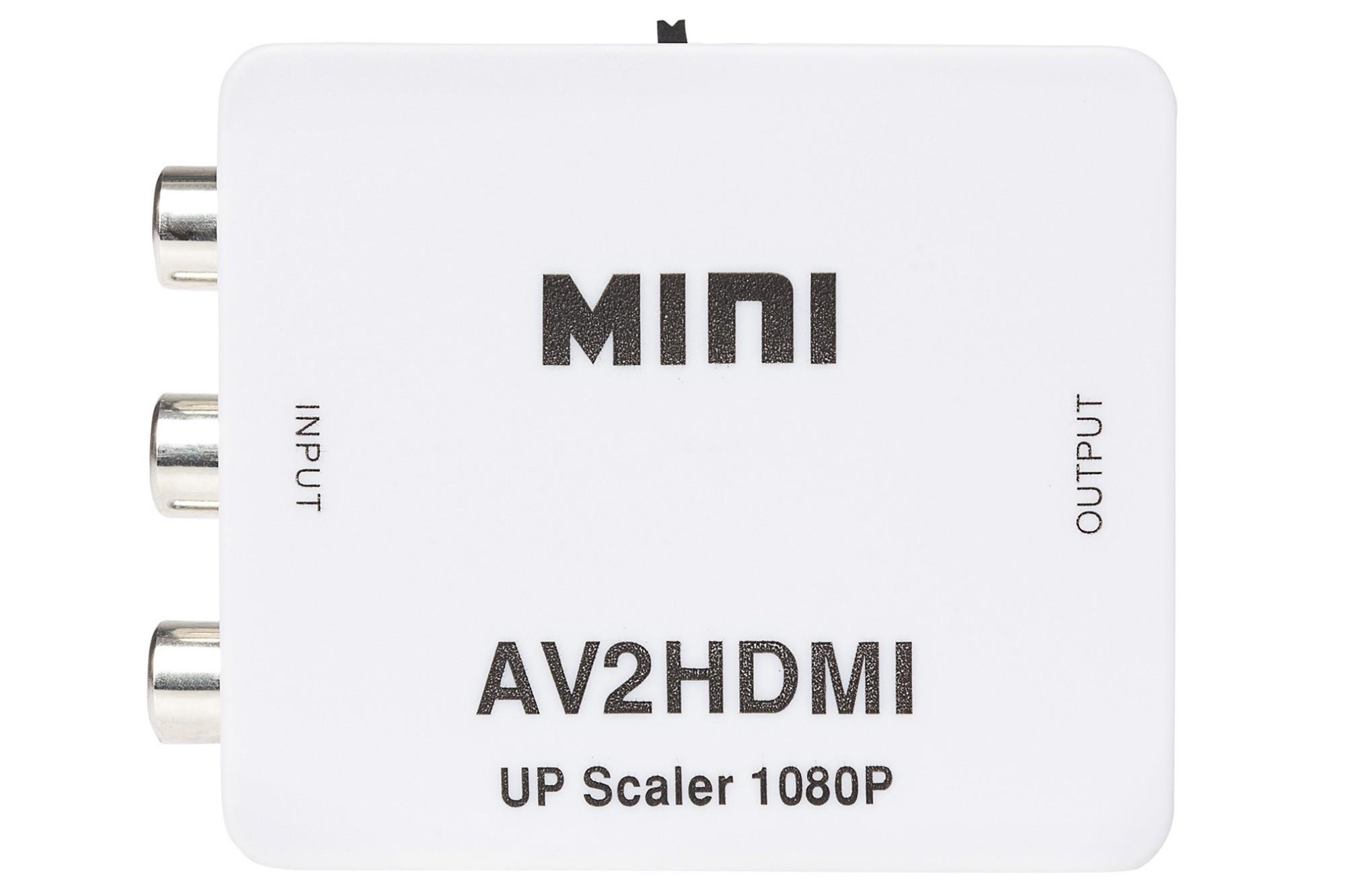 Nikkai RCA Composite to HDMI Adapter - White