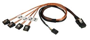 Lindy Internal SATA & SAS cable SATA cable 1 m Black