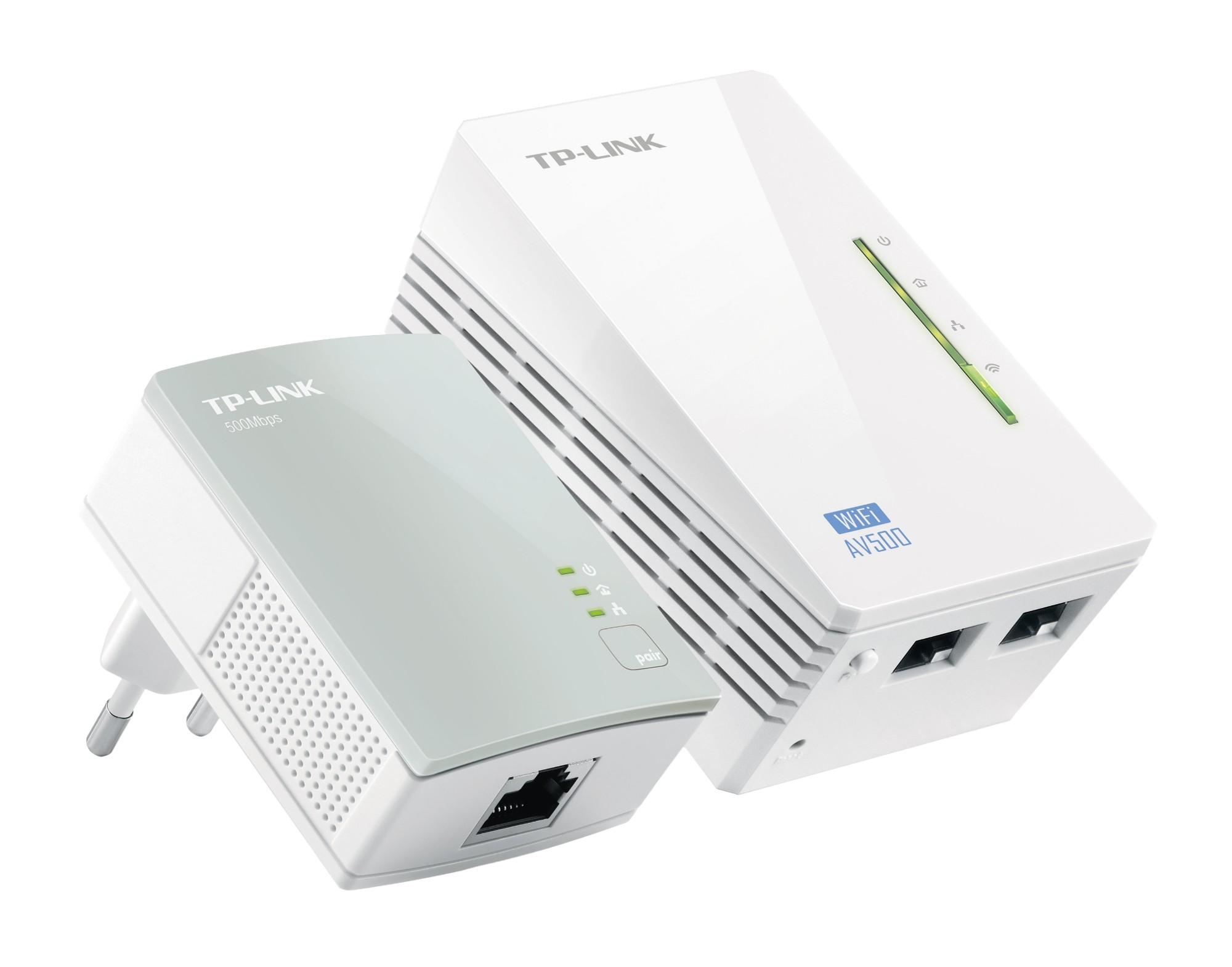 Wireless N Powerline Extender Tl-wpa4220 300mbps Kit Incl Tl-wpa4220 And Tl-pa4010
