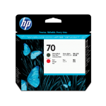New Genuine HP 70 Matte Black and Red DesignJet Printhead