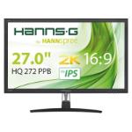 "Hannspree Hanns.G HQ 272 PPB 68.6 cm (27"") 2560 x 1440 pixels Quad HD LED Black"