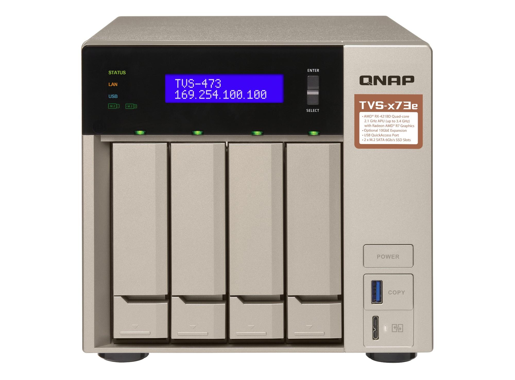 QNAP TVS-473E RX-421BD Ethernet Tower Gris NAS