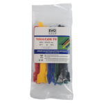 Evo Labs 12X125MM VELC MULTI-COL cable tie Hook & loop cable tie Multicolour 20 pc(s)