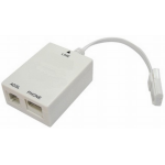 Dynamode ADSL Microfilter / Splitter (BT > 1 x RJ11, 1 x BT) - Tailed