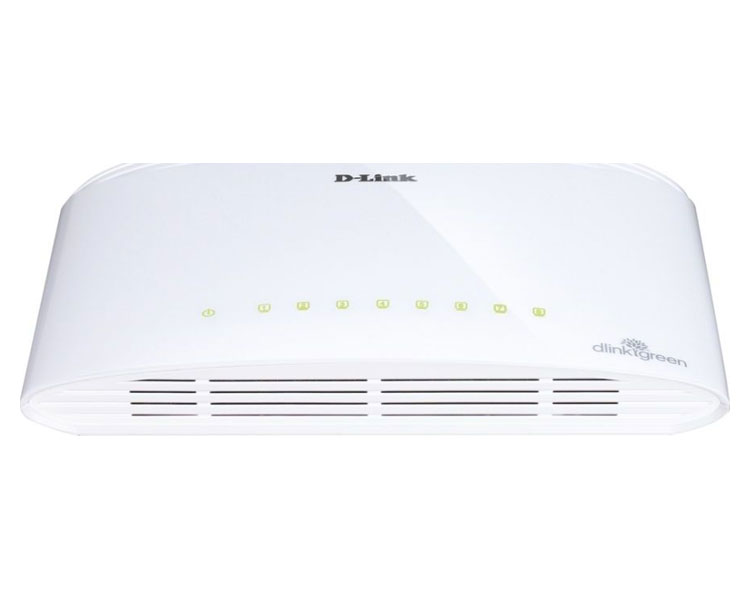 D-Link DGS-1008D/E switch No administrado L2 Gigabit Ethernet (10/100/1000) Negro