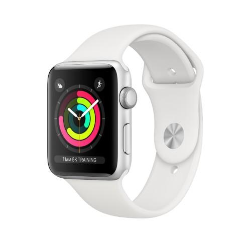 Apple Watch AppleВ SeriesВ 3 GPS, 42mm Silver Aluminium Case with White Sport Band
