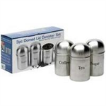 ADDIS Stainless Steel Canisters Airtight Windowed Ref 508453