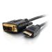 C2G Cable de vídeo digital HDMI a DVI-D de 2 m