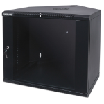 "Intellinet 19"" Corner Wallmount Cabinet, 6U, 600mm Depth, Max 60kg, Assembled, Black"