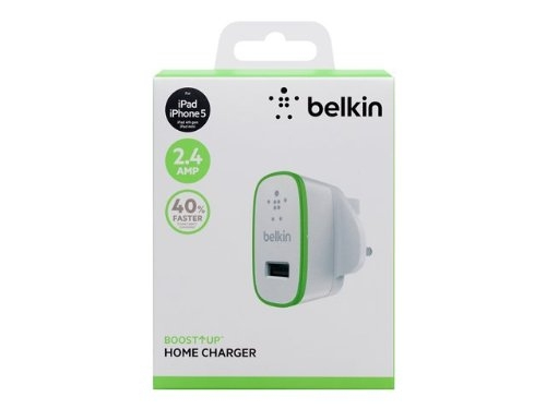 Belkin F8J040UKWHT Auto White mobile device charger