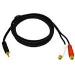 C2G 2m Value Series 3.5mm Stereo Plug/RCA Jack x2 Y-Cable