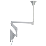 "Newstar Medical Monitor Ceiling Mount (Full Motion gas spring) for 10""-32"" Screen, Height Adjustable - Grey"