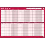 Sasco 2410140 wall planner Pink,White 2021