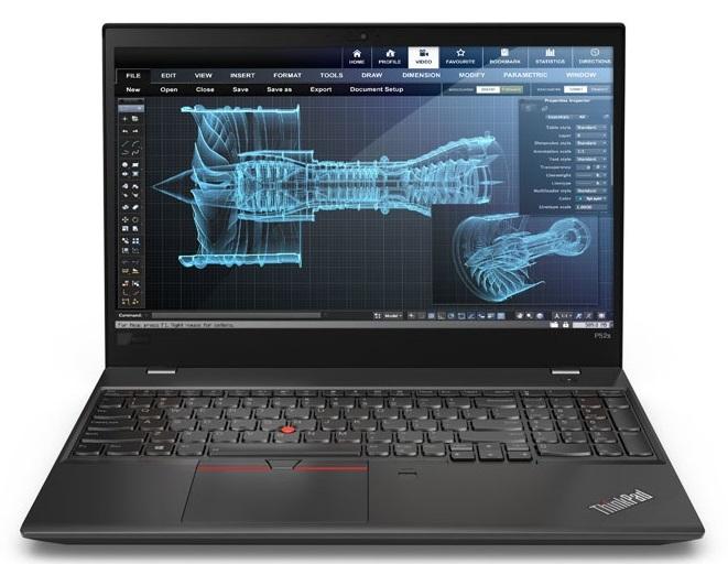 """Lenovo ThinkPad P52S Black Notebook 39.6 cm (15.6"""") 1920 x 1080 pixels 8th gen Intel® Core™ i7 i7-8550U 16 GB DDR4-SDRAM 512 GB SSD"""