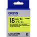 Epson C53S655004 (LK-5YBF) DirectLabel-etikettes, 18mm x 9m
