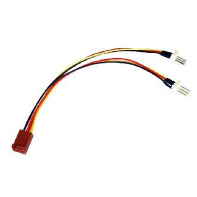TARGET 3-Pin Fan (F) to 2 x 3-Pin Fan (M + M) 0.15m OEM Internal Splitter Cable