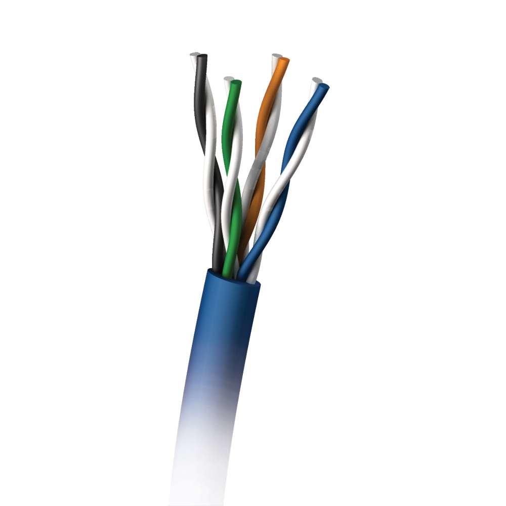 C2G 305M Cat5E 350MHz UTP Solid PVC CMR Cable cable de red U/UTP (UTP) Azul