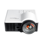 Optoma ML1050ST+ data projector 1000 ANSI lumens DLP WXGA (1280x800) 3D Desktop projector Black,White