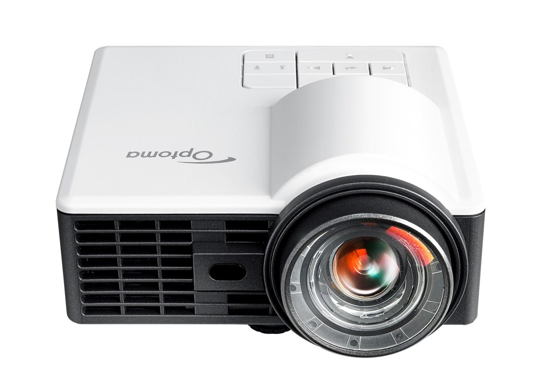 Optoma ML1050ST+ videoproyector 1000 lúmenes ANSI DLP WXGA (1280x800) 3D Proyector para escritorio Negro, Blanco