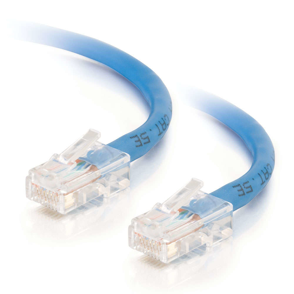 C2G 1.5m Cat5e Non-Booted Unshielded (UTP) Network Patch Cable - Blue