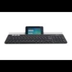 Logitech K780 RF Wireless + Bluetooth AZERTY Belgian Black, White