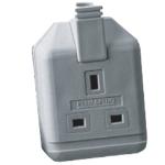 Videk ELS13W-01 Black electrical power plug